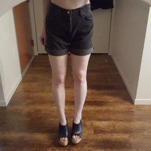 Vintage Levi's 951 Black High-Waisted Jean Shorts